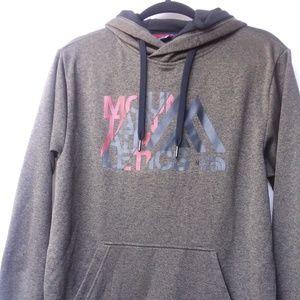 North Face Men's hoodie M fleece-lined olive marl